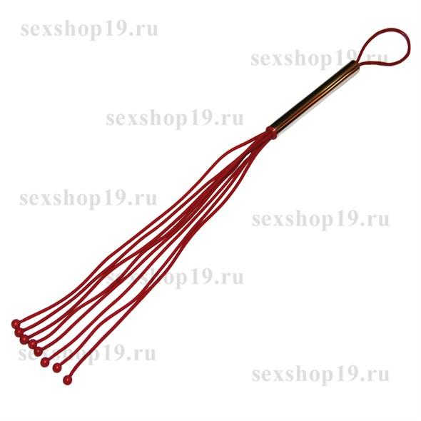 Плеть с шариками красный латекс, средняя - фото 42025