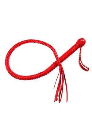 Кнут красный, натуральная кожа - фото 42050