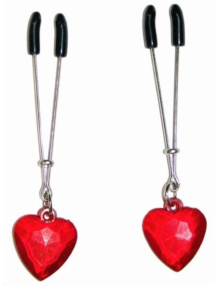 Зажимы для сосков с сердечками - фото 42235