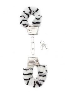 Наручники Furry Handcuffs Zebr, мех-зебра - фото 42308