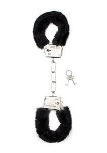 Наручники Furry Handcuffs Black, черный мех - фото 42313