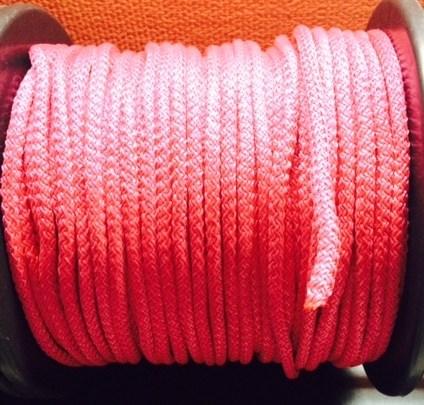 Веревка для шибари красная, диаметр 10мм, цена за 1м - фото 42395