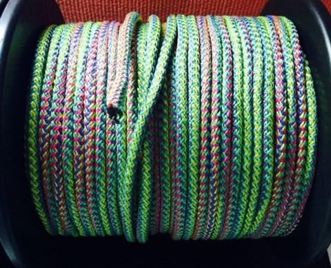 "Веревка для шибари ""Радуга"" диаметр 10мм, цена за 1м - фото 42396"