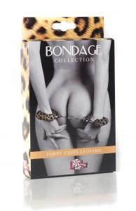 Наручники с мехом BONDAGE леопардовые - фото 42410