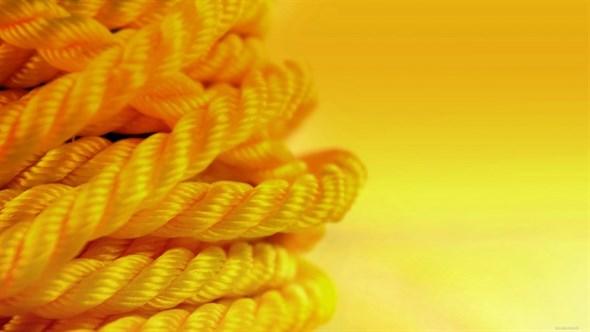 Веревка для шибари желтая, диаметр 8мм, цена за 10м - фото 42413