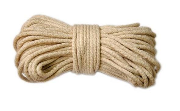 Веревка для шибари джутовая, диаметр 6мм, цена за 10м - фото 42416