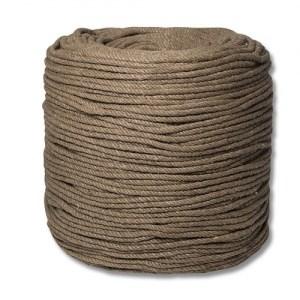 Веревка для шибари джутовая, диаметр 6мм, цена за 1м - фото 42417