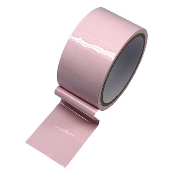 Скотч для бондажа, розовый, длина 17м - фото 42442