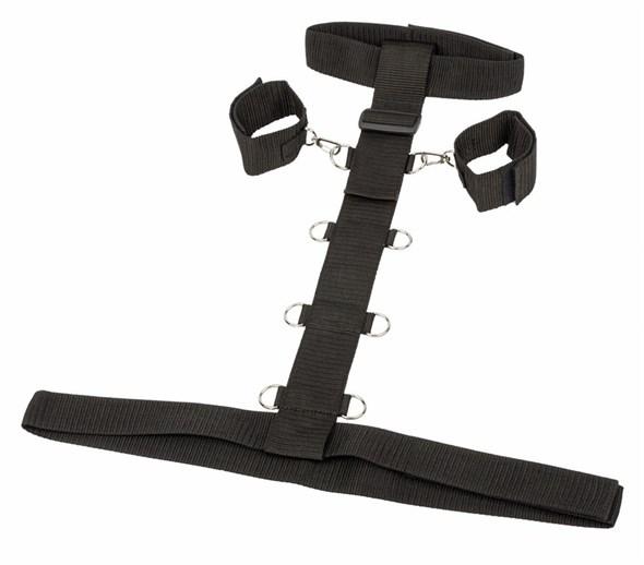 Бондаж ременной для рук и шеи с креплением к талии, Plus Size - фото 42449