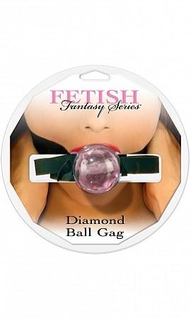 Кляп FF Diamond Ball Gag розовый - фото 42632