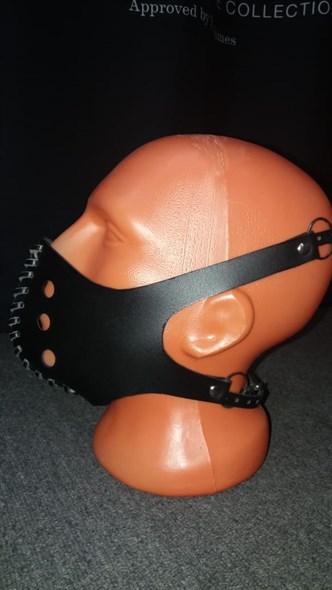 """Маска на нижнюю часть лица """"Шепот"""" черная кожа - фото 42789"""