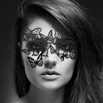 "Маска-бабочки ""SYBILLE"" черная - фото 42796"