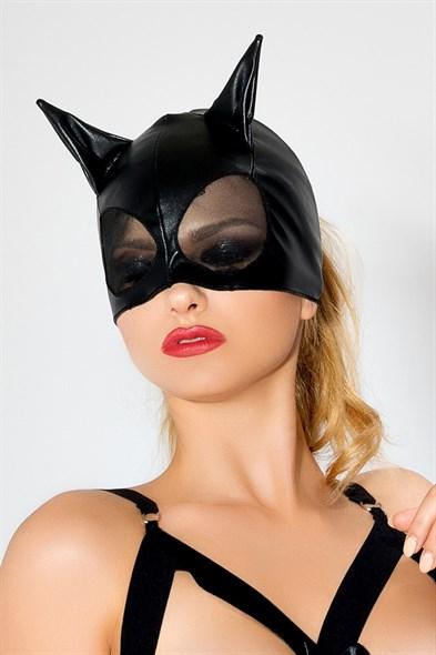 Маска с ушками и сеткой #женщина кошка Me Seduce, черная - фото 42798