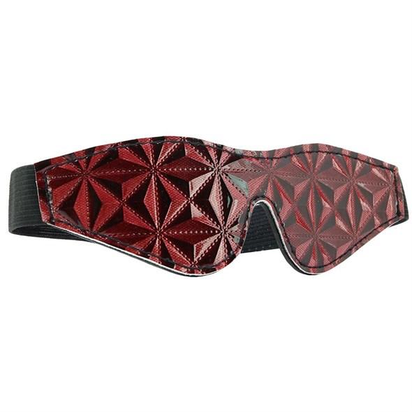 Маска на глаза закрытая Ouch! Luxury Eye Mask черно-красная - фото 42872