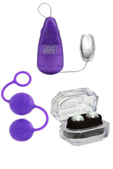 Набор для женщин Her Kegel Kit фиолетовый - фото 42962