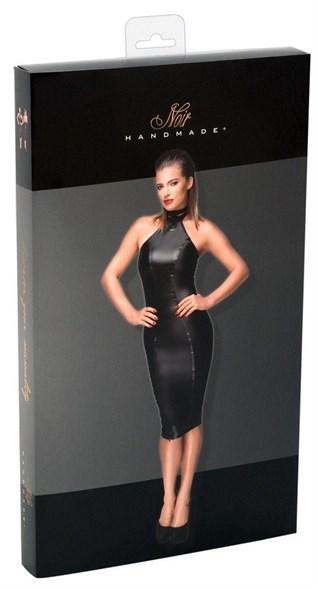 Платье Noir обтягивающее миди черное, М - фото 43366