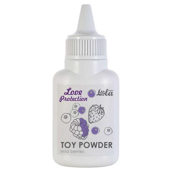 Пудра для игрушек ароматизированная Love Protection - Лесные ягоды, 15 г. - фото 45638
