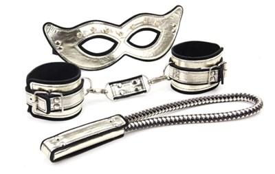 Набор Roomfun маска, наручники, спанкер золотистый