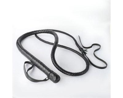 Кнут гибкий #BDSM черный с красным плетением на рукояти