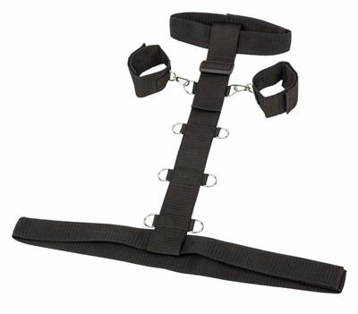 Бондаж ременной для рук и шеи с креплением к талии, Plus Size