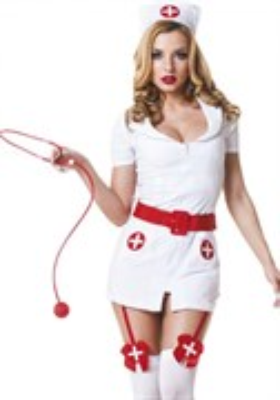 Костюм похотливой медсестры белый S\M(42-44), Le Frivole