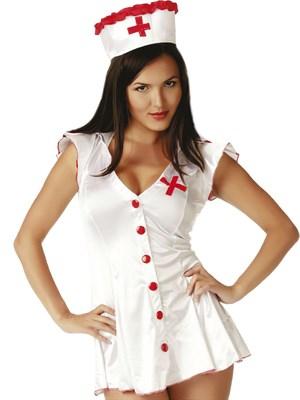 Костюм игривой медсестры белый S/M , Le Frivole