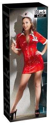 """Платье Black Level """"Медсестра"""" красное, 2XL"""