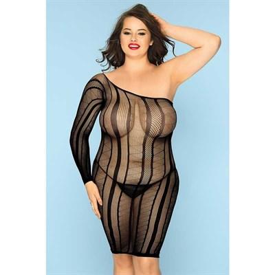 Оригинальное платье Candy Girl Nikkii с трусиками черные, 2XL