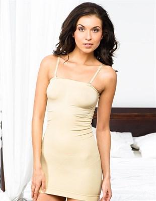 Нижнее платье с корректирующим эффектом для женщин, телесное, L