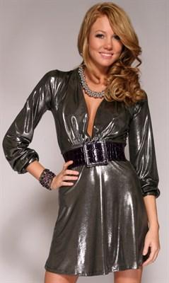 Agate платье темно-серебристое, S