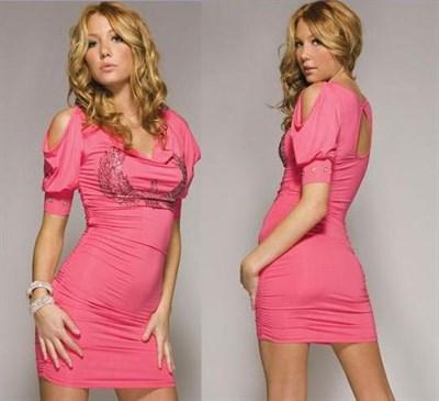 "Платье ""Zepplin"" розовое, XS"
