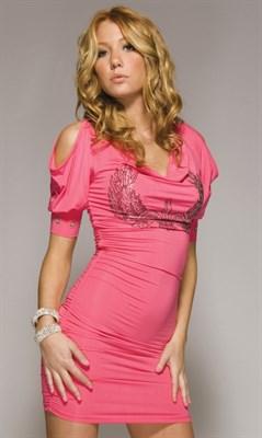"Платье ""Zepplin"" розовое, S"