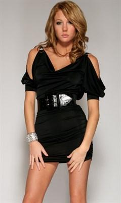 """Платье """"Brilliance"""" черное, XS"""