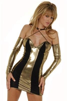 Клубное платье с митенками