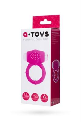 Эрекционное вибро-кольцо A-Toys силикон розовый, 2,5 см