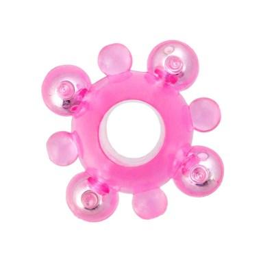 Кольцо с бусинами Super Ring, розовое