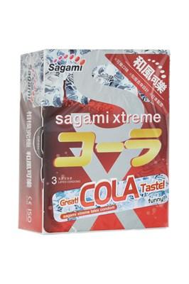 Презервативы Sagami Xtreme Cola с ароматом колы, 3шт