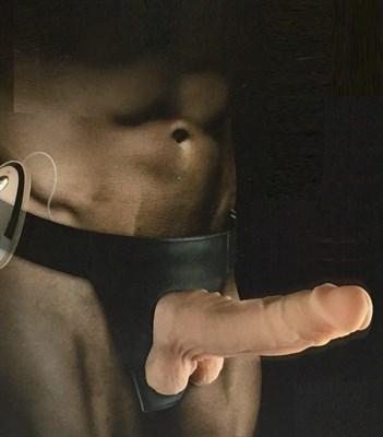 Вибро-страпон Mars dildo ультра-реалистик на трусиках, 17,5*3,6см