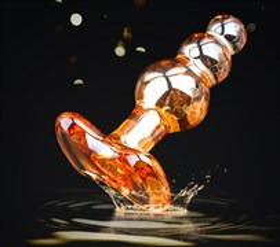 Анальная ёлочка перламутровое стекло