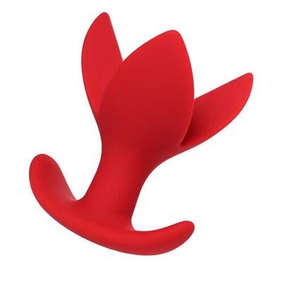 Расширяющая анальная втулка ToDo by Toyfa Flower, силикон, красная 9 см