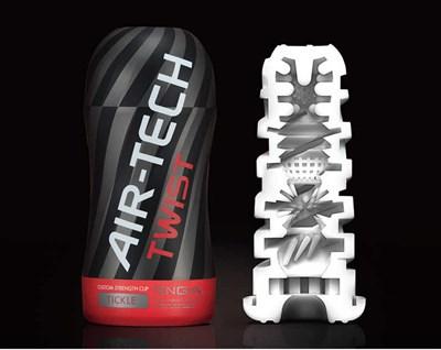 Мастурбатор Tenga Air-Tech Twist Tickle, серый