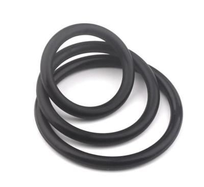 Набор из 3-х эрекционных колец, черный силикон